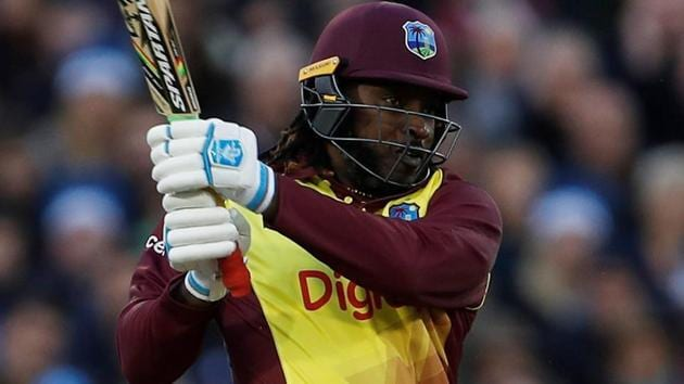 Chris Gayle is currently at the top of the six-hitters list in international cricket.(AFP)