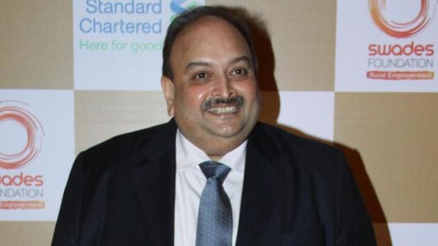 Mehul Choksi is wanted in the case of Prevention of Money Laundering Act and his passport was revoked in February 2018.(HT File Photo)