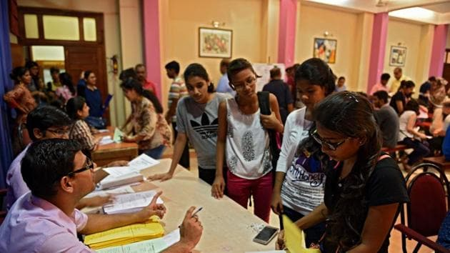 The education department is yet to announce the number of seats remaining in the minority quota would be filled in the end.(HT File Photo)