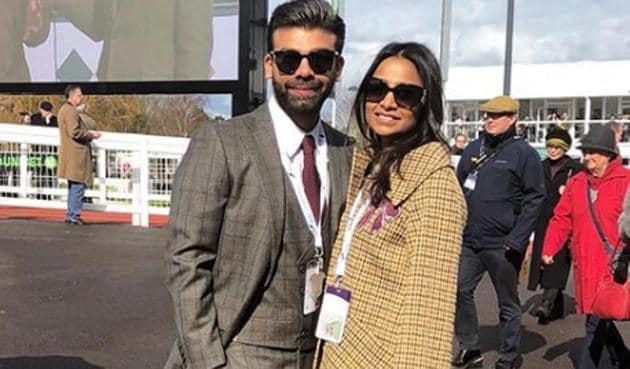 Amit Bhatia with Vanisha Mittal.
