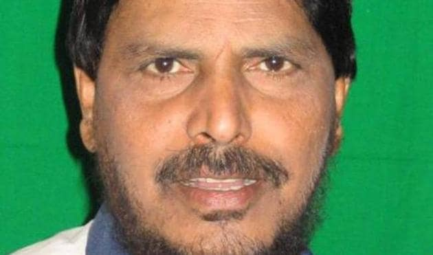 RPI chief Ramdas Athawale.(HT File Photo)