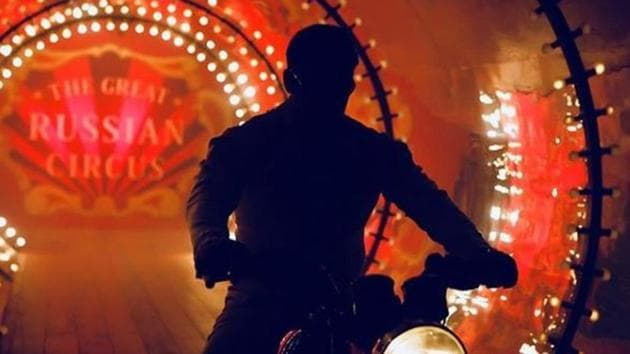 Salman Khan's silhouette is visible in this new still from Bharat.(Instagram)