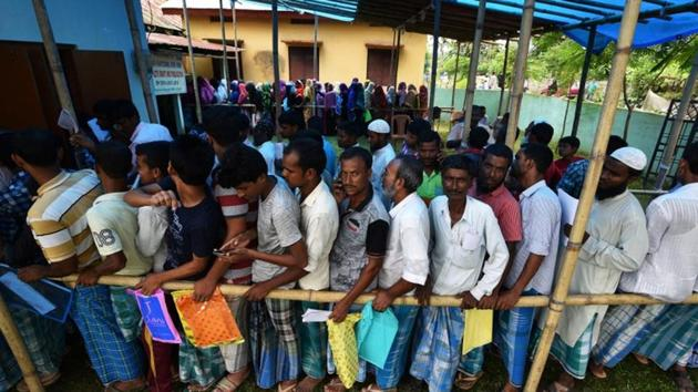 Some 40 lakh people have been excluded from the NRC list.(Reuters)