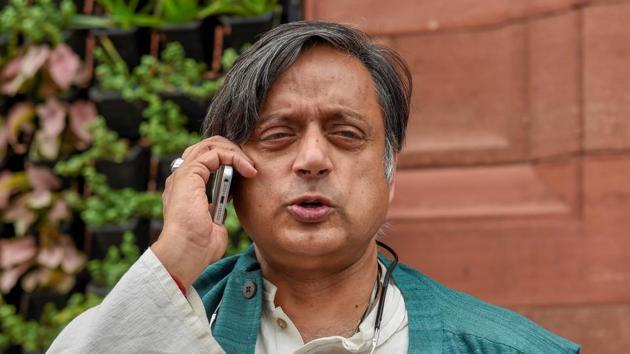 Congress MP Shashi Tharoor is an accused in the death case of his wife Sunanda Pushkar(PTI file photo)
