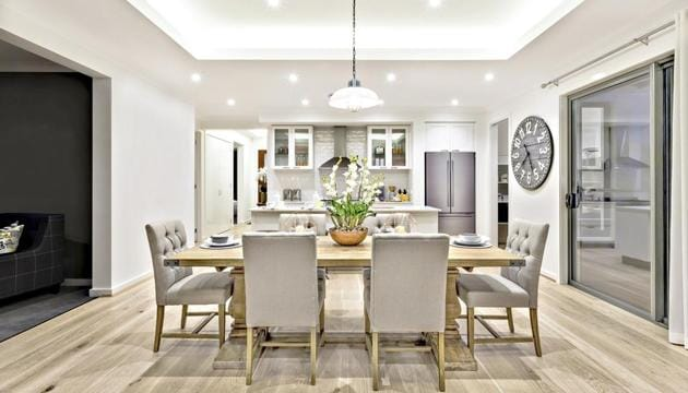 Unexpected lighting can add interest and create a cozy atmosphere. Lighting also helps to create a more lived-in feeling that is conducive to relaxed conversation.(Shutterstock)