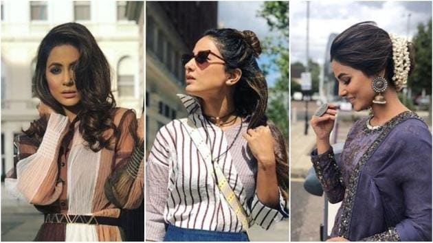 Bigg Boss 11 star Hina Khan can ace any look ever.(Instagram)