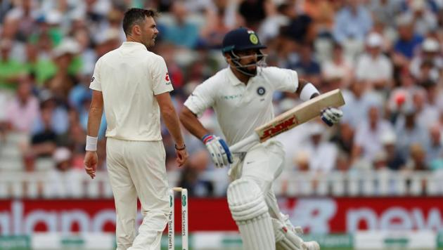 Chasing 194 to win the first cricket Test against England, India were 110 for five at stumps on day three, at Edgbaston on Friday.(Action Images via Reuters)