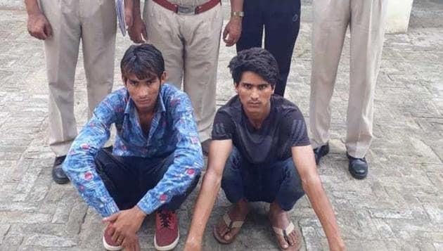 The accused, Jaffar Khan and Saahukar Khan, are being produced in court on Friday, August 3, 2018.(HT Photo)