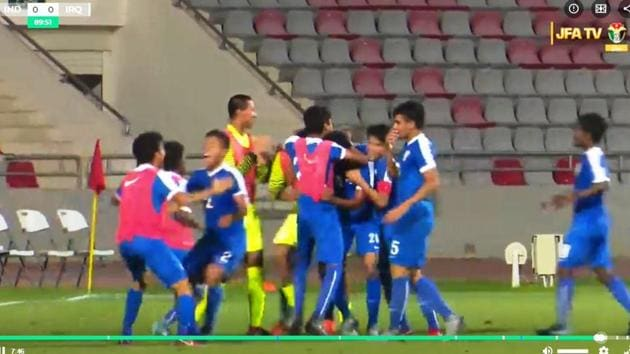 This is the first-ever victory for any Indian football team against Iraq in any format and among all age-groups.(Twitter (@@IndianFootball))