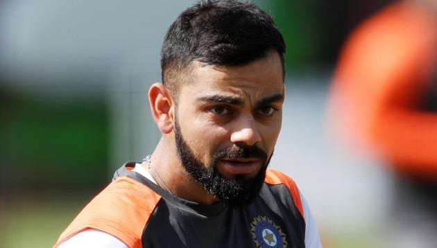 Virat Kohli during a practice session ahead of the second Test between India and England at Lord's.(Action Images via Reuters)