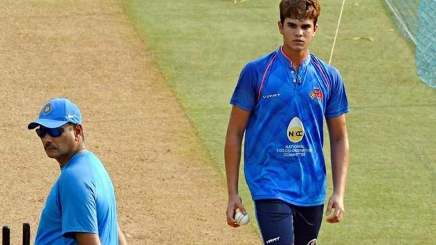 Arjun gave the Indian captain an opportunity to practice against the left-arm angle.((PTI))