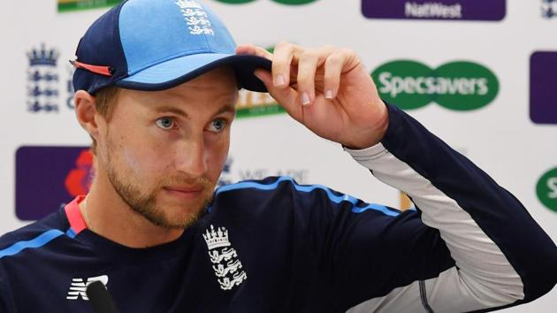 England's captain Joe Root attends a press conference at Lord's Cricket Ground in London on August 8, 2018, ahead of the second Test cricket match between England and India.(AFP)