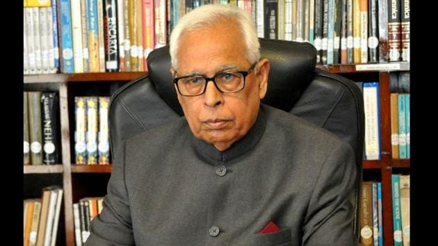 J&K governor NN Vohra said real-time coordination between the security forces and the civil administration was paramount.(PTI)