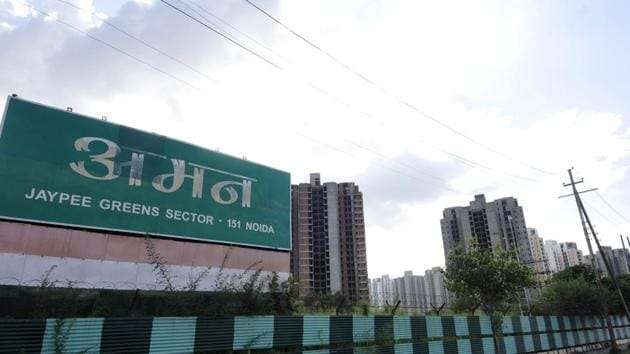Jaypee Infratech has failed to deliver around 20,000 flats in its Wish Town and Jaypee Aman projects.(Sunil Ghosh/ HT File Photo)