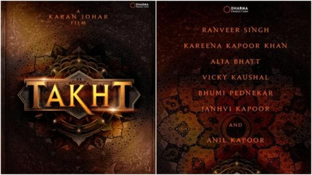 Karan Johar's Takht is set in Mughal era and would be based on two warring brothers played by Ranveer Singh and Vicky Kaushal.