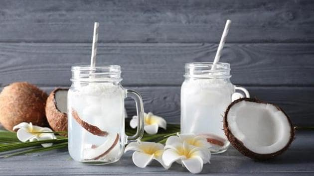 Coconut water is high in potassium, which can flush out excess water from your body, and helps in weight loss.(Shutterstock)
