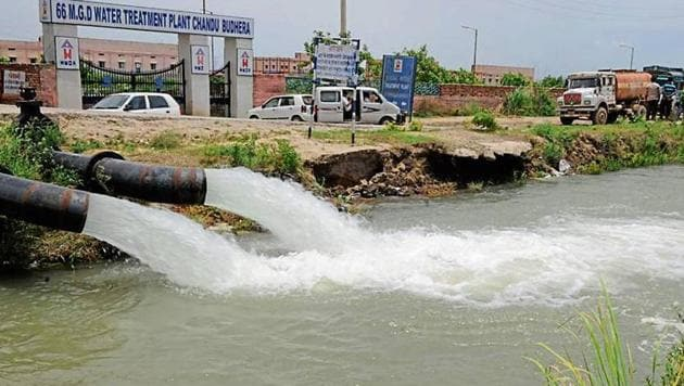 The GMDA plans to build a culvert that will connect water pipelines with the Chandu Budhera plant.(HT File)
