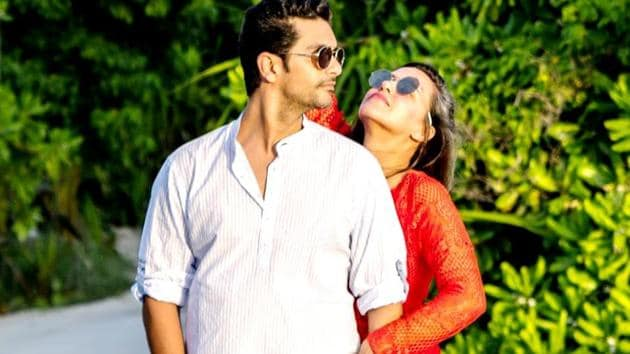 Neha Dhupia, Angad Bedi are honeymooning in the Maldives, and the newlyweds are wasting no time showing off their romance. (Instagram)