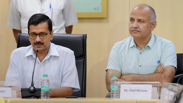 Delhi chief minister Arvind Kejriwal and his deputy Manish Sisodia have been charged with criminal conspiracy.(PTI)