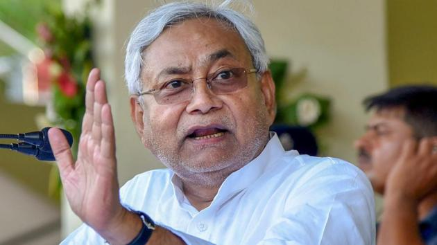 Bihar chief minister Nitish Kumar On Tuesday said that 'one nation, one poll' was a good idea but not implementable in the forthcoming general elections.(PTI Photo)