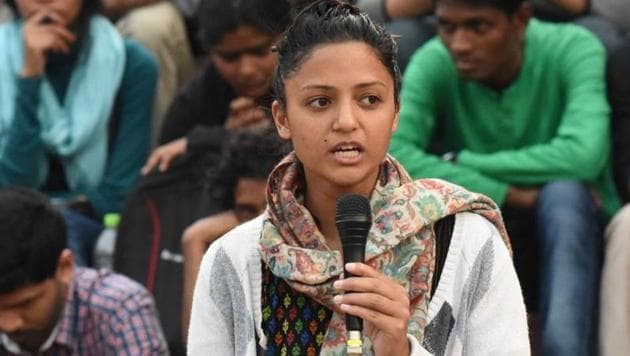 Student acrivist Shehla Rashid has alleged a threat by gangster Ravi Poojary.(HT file photo)
