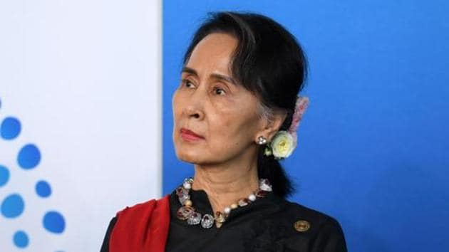 The three serving leaders educated in India are Aung San Suu Kyi of Myanmar (pictured), Bhutan's king Jigme Khesar Namgyel Wangchuk and its Prime Minister Tshering Tobgay.(AFP)