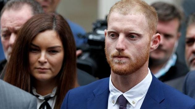 England cricket player Ben Stokes outside Bristol Crown Court in Bristol after his trial.(REUTERS)