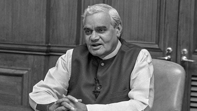 Former prime minister Atal Bihari Vajpayee passed away in New Delhi on Thursday.(HT file photo)