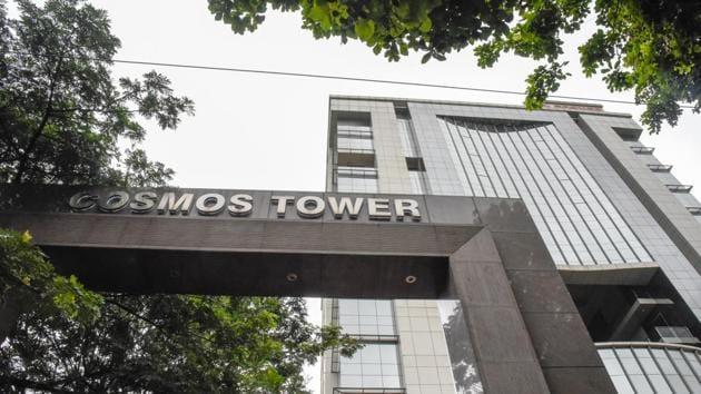Cosmos bank headquarters on Ganeshkhind road in Pune.(Sanket Wankhade/HT Photo)