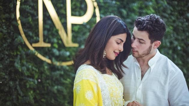 Priyanka Chopra and Nick Jonas celebrated their new relationship with her friends and family.(Instagram)
