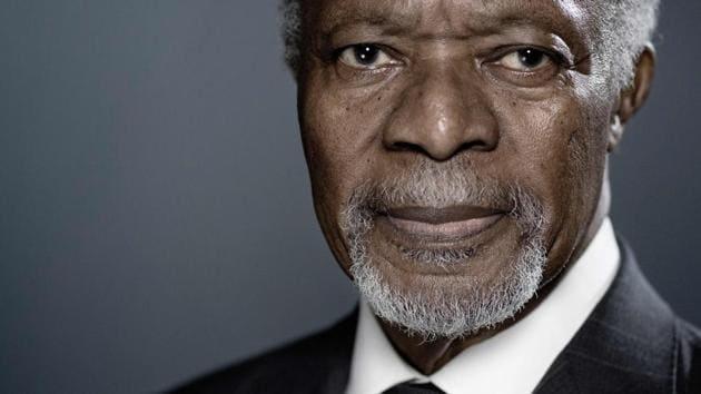 Former United Nations (UN) secretary-general Kofi Annan poses during a photo session in Paris. Former UN chief, Nobel laureate Kofi Annan, 80, has died.(AFP Photo)