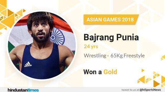 Bajrang Punia wins gold.(HT Photo)