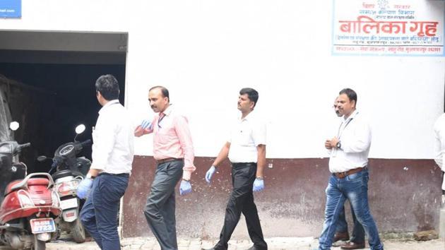 CBI officials at Muzaffarpur short stay home recently.(HT Photo)