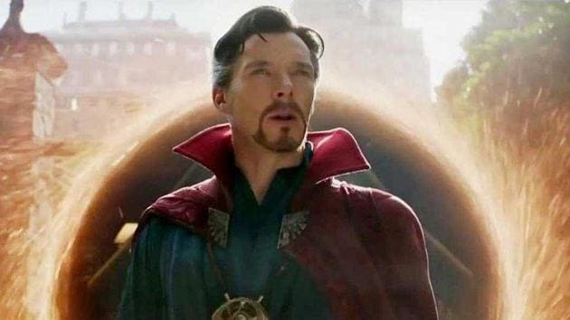 Benedict Cumberbatch as Doctor Strange in a still from Avengers: Infinity War.