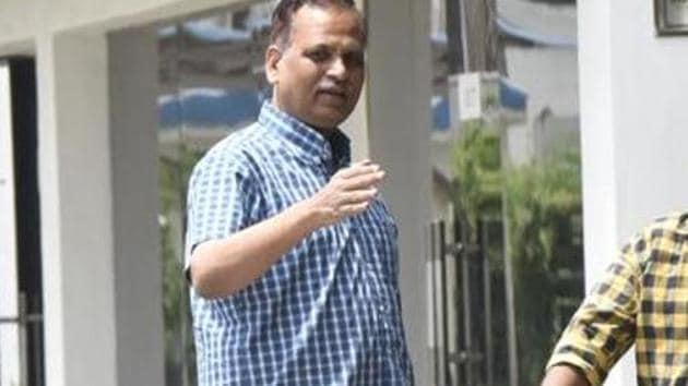 Delhi home minister Satyendar Jain(Sonu Mehta/ Hindustan Times)