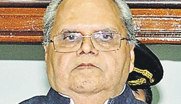File photo of newly appointed Jammu and Kashmir governor Satya Pal Malik(Hindustan Times)