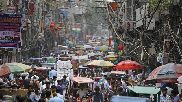 According to Population Reference Bureau estimates, the compound annual growth rate of India's population between mid-2018 to mid-2030 is likely to be 0.93%, and come down to 0.46% between 2030 and 2050.(AP file photo)