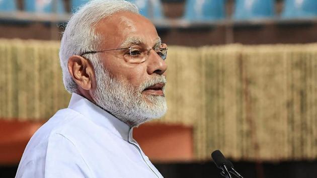 Prime Minister Narendra Modi arrived in Gujarat on Thursday for a day's visit.(PTI File Photo)