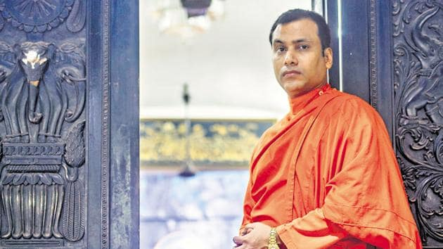 Buddhist monk Lanka Ananda Theo said that in 25 years, he has seen Mumbai go from a city with time and space for leisure, to a city where people never seem to have five minutes to spare.(PRATIK CHORGE/HT PHOTO)