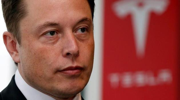 Tesla Motors Inc chief executive Elon Musk pauses during a news conference in Tokyo.(Reuters Photo)