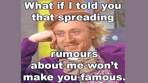 Very few of us can claim that they've never encountered a rumour monger in life and that's probably because they've been busy being one.