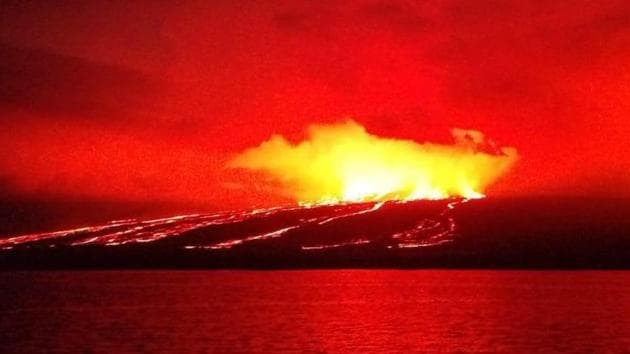 Manam Island, just 10 km wide, is one of the Pacific nation's most active volcanoes and is home to roughly 9,000 people.(AFP/Representative image)