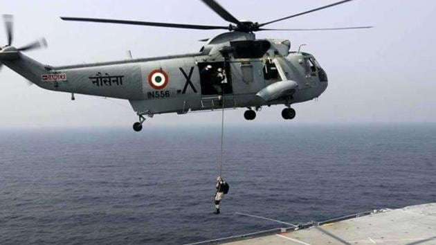The decision to procure the helicopters for the Navy was taken at a meeting of the Defence Acquisition Council.(HT File Photo)
