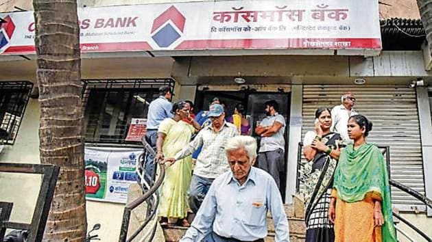 A multinational hacking ring siphoned off ~94.42 crore from the pool account of Pune-based Cosmos Bank.(Sanket Wankhade/HT file)