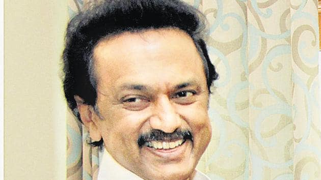 Dravida Munnetra Kazhagam (DMK) working president MK Stalin on Sunday filed his nomination for the party president's post and is likely to be elected unopposed at the general council meeting on August 28.(PTI Photo)