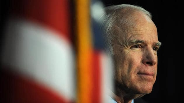 US senator John McCain, a celebrated war hero known for reaching across the aisle in an increasingly divided America, died Saturday after losing a battle to brain cancer, his office said.(AFP Photo)