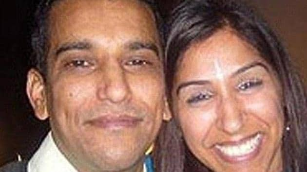 Geeta Aulakh, 28, with her husband Harpreet. Geeta was hacked to death by killers hired by her husband in Greenford, London, on November 16, 2009.(Sunrise Radio/Press Association (The Guardian))