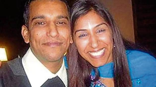 Geeta Aulakh, 28, with her husband Harpreet. Geeta was hacked to death by killers hired by her husband in Greenford, London, on November 16, 2009.(Sunrise Radio)