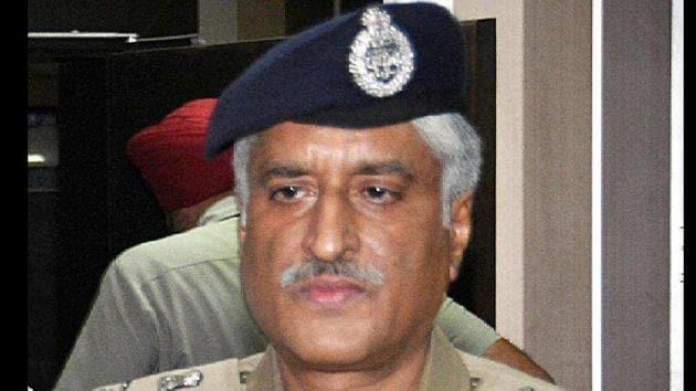 Ex-DGP Punjab Sumedh Saini(HT File)