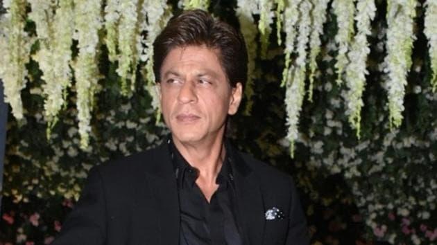 Actor Shah Rukh Khan arrives to attend NCP leader Praful Patel's daughter Poorna Patel's wedding reception, in Mumbai.(IANS)